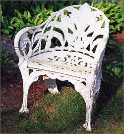 British And American Cast Iron Garden Seats By Barbara Israel From Antiques  U0026 Fine Art Magazine