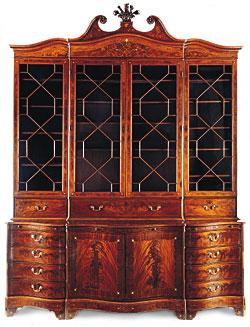 Nice 1: Library Bookcase, Charleston, S.C., 1770u20131775. MRF 8000. Mahogany,  Mahogany Veneer, Inlay Of Ivory And Various Unidentified Woods; Mahogany,  Cypress, ...