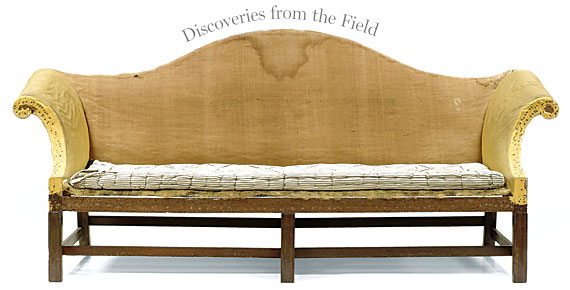 1 Sofa Philadelphia Circa 1768 Mahogany Oak Yellow Pine Woven Steel H 38 L 95 D 37 In Courtesy Of The Museum Art