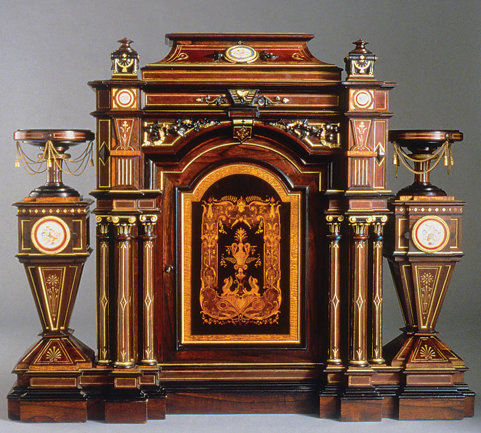 Parlor cabinet, 1860-1870, attributed to Alexander Roux (American, active  1847 - Historic Opinions: How Critics Shaped American Tastes In Furniture