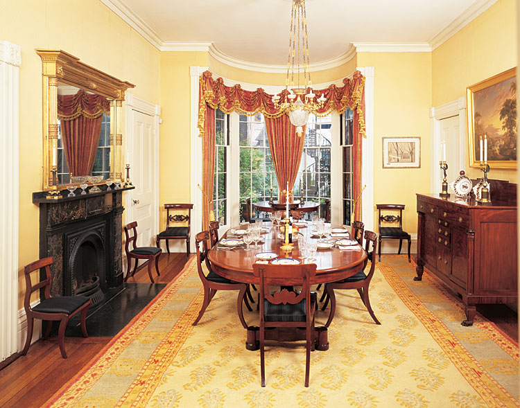 lifestyle classical revival classical furniture graces a greek revival home by gayle. Black Bedroom Furniture Sets. Home Design Ideas
