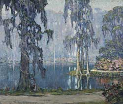 Fig. 13: William Posey Silva (1859–1948) Garden of Dreams, ca. 1925. Oil on canvas, 34 x 39 inches. Courtesy, Cheekwood Botanical Garden & Museum of Art, Nashville, Tenn. Transfer from the Nashville Museum of Art.