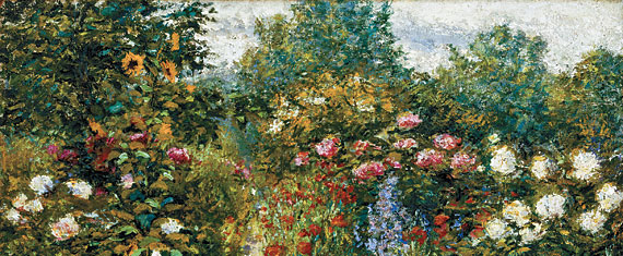 Fig. 1: John Leslie Breck (1860–1899) Garden at Giverny (In Monet's Garden), 1887–1891. Oil on canvas, 25-3/8 x 29-1/8 inches. Courtesy, Terra Foundation for American Art, Chicago, Daniel J. Terra Collection.