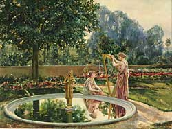 Fig. 6: Will Hicock Low (1853–1932) L'Interlude: Jardin de MacMonnies, 1901. Oil on canvas, 26 x 32-1/2 inches. Courtesy, Collection of the University of Virginia Art Museum, Charlottesville, Museum purchase.
