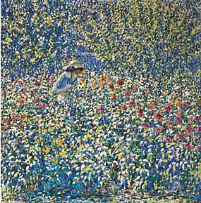 Fig. 8: Louis Ritman (1889–1963) Flower Garden, ca. 1913. Oil on canvas, 39-1/4 x 39 inches. Courtesy, Phoenix Art Museum, Phoenix, Ariz. Gift of Mr. and Mrs. John M. Redfield Jr.