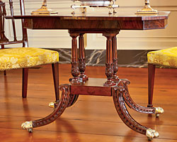 Detail of the card table shown below.