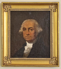 This early nineteenth-century portrait of George Washington is by an anonymous artist.