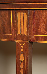 An array of the decorative inlays on furniture in the drawing room.