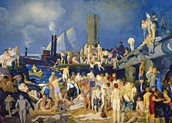 George Bellows (1882–1925) River Front, No. 1, 1915. Oil on canvas, 45-3/8 x 63-1/8 inches. Columbus Museum of Art, Ohio; Howald Fund Purchase, 1951.011.
