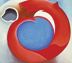Georgia O'Keeffe (1887–1986) Goat's Horn with Red, 1945 Pastel on paperboard, 27-13?16 x 31-5/8 inches Hirshhorn Museum and Sculpture Garden, Smithsonian Institution, Washington, D.C.; gift of Joseph H. Hirshhorn, 1972.