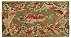 Fish pattern rug, late nineteenth-century, perhaps by Frost.