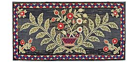 Flower basket, New England, late nineteenth-century.