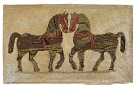 This pair of horses was an early purchase. Probably Pennsylvania, nineteenth century.