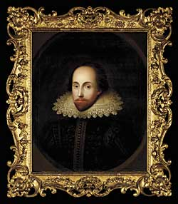 Fig. 6: Unknown Portrait of William Shakespeare, ca. 19th century. Oil on linen, laid on panel. Purchased by Pierpont Morgan, 1910. AZ140.