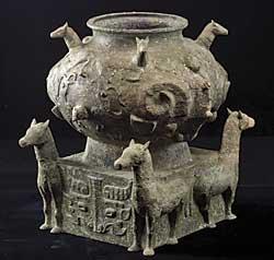 Horse-motif Gui 1982 Western Zhou (ca. 1050–771 BCE) Bronze. H 12.05, W 7.87 in. Unearthed in 1982 at Jinquancun, Lianhechong, Taojiang county Hunan Provincial Museum