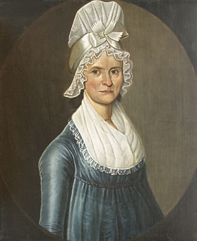 Fig. 4: William Jennys (1774–1859), Woman in a Blue Dress, ca. 1800. Oil on canvas, 30 x 25 inches. Private collection.