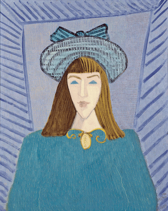 Fig. 5: Milton Avery (1893–1965) March with a Green Hat, 1948 Oil on canvas, 30 x 24 inches Permanent Collection of the Neuberger Museum of Art, Purchase College, State University of New York;  Gift of Roy R. Neuberger