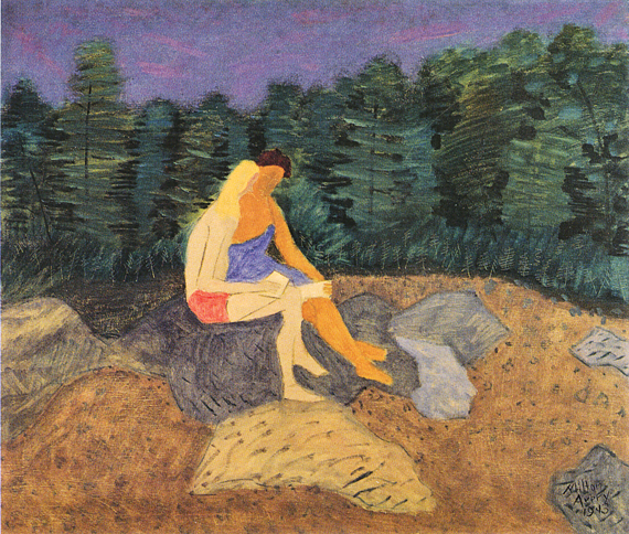 Fig. 1: Milton Avery (1893–1965) Sketchers on the Rock, 1943 Oil on canvas, 36 x 42 inches Permanent Collection of the Neuberger Museum of Art, Purchase College, State University of New York; Gift of Roy R. Neuberger