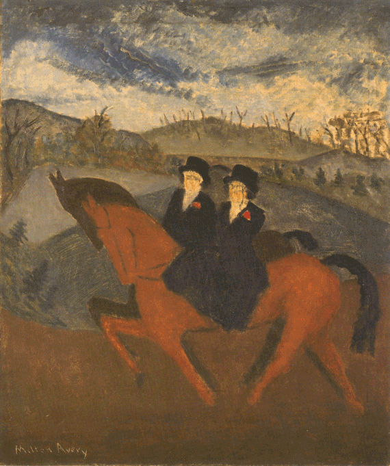 Fig. 2: Milton Avery (1893–1965) Sunday Riders, 1929 Oil on canvas, 30 x 25 inches Permanent Collection of the Neuberger Museum of Art, Purchase College, State University of New York; Gift of Roy R. Neuberger