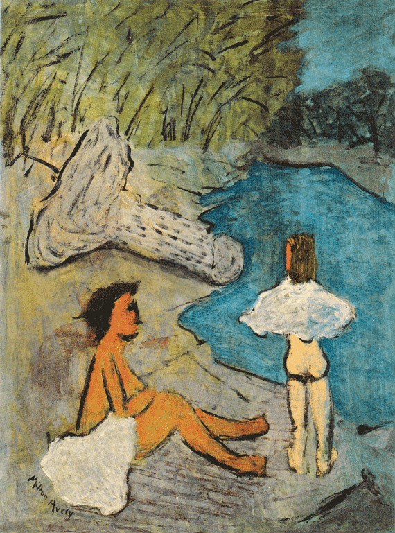 Fig. 3: Milton Avery (1893–1965) Country Brook, 1938 Oil on canvas, 40 x 30 inches Permanent Collection of the Neuberger Museum of Art, Purchase College, State University of New York;  Gift of Roy R. Neuberger