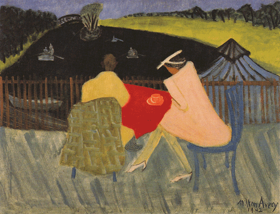 Fig. 8: Milton Avery (1893–1965) Clover Leaf Park, 1942 Oil on canvas, 36 x 28 inches Permanent Collection of the Neuberger Museum of Art, Purchase College, State University of New York;  Gift of Roy R. Neuberger