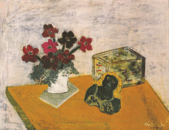 Fig. 10: Milton Avery (1893–1965) Anemones and Guppies, 1943 Oil on canvas, 36 x 42 inches Permanent Collection of the Neuberger Museum of Art, Purchase College, State University of New York;  Gift of Roy R. Neuberger