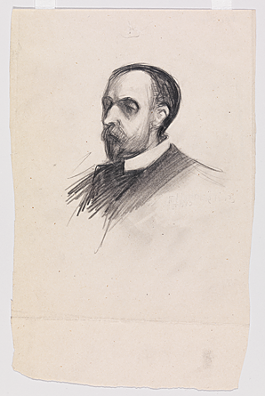 Fig. 2: Edward Hopper (1882–1967), Portrait of Artist's Father Garret Henry Hopper (1852–1913), 1903. Graphite pencil on paper, Sheet (Irregular): 9-3/8 x 6-1?16 inches. Whitney Museum of American Art, New York; Josephine N. Hopper Bequest (70.1560.61). Digital image © Whitney Museum of American Art. © Heirs of Josephine N. Hopper, licensed by the Whitney Museum of American Art, New York.