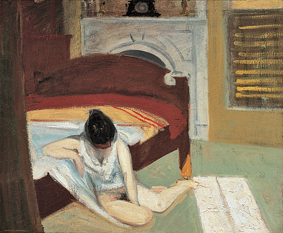 Fig. 10: Edward Hopper (1882–1967), Summer Interior, 1909. Oil on canvas, 24 x 29 inches. Whitney Museum of American Art, New York; Josephine N. Hopper Bequest (70.1197). ©Heirs of Josephine N. Hopper, licensed by the Whitney Museum of American Art. Photography by Robert E. Mates.