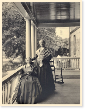 Eldress Emma Neale (seated) and Sister Sadie Neale.