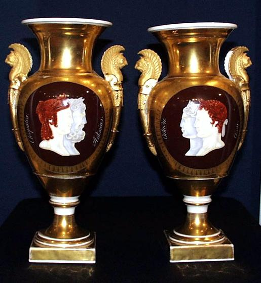 Antiques Fine Art Vandekar Paul Pair Of Paris Porcelain Neo